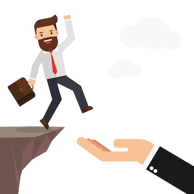 Wsparcie Dla Biznesmenów I Partnerów Premium Wektorów