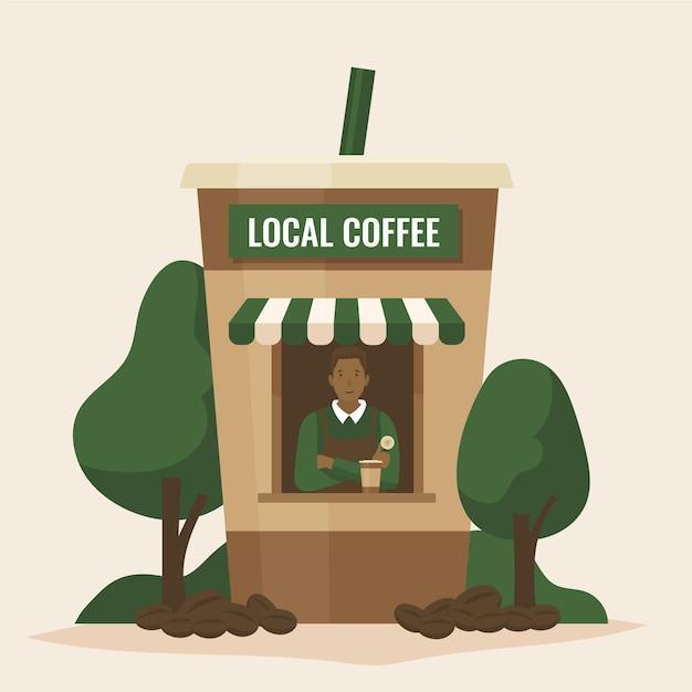 Wspieraj Koncepcję Lokalnego Biznesu Darmowych Wektorów