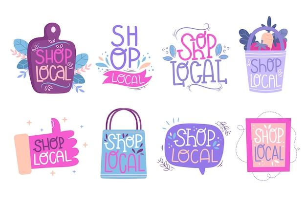 Wspieraj Zbieranie Liter Lokalnych Firm Darmowych Wektorów