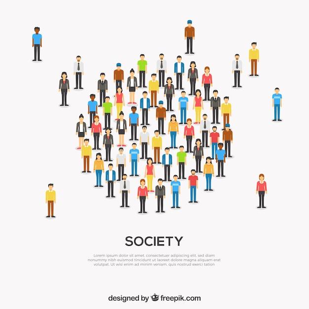 Współczesne Społeczeństwo Tworzy Okrąg Darmowych Wektorów