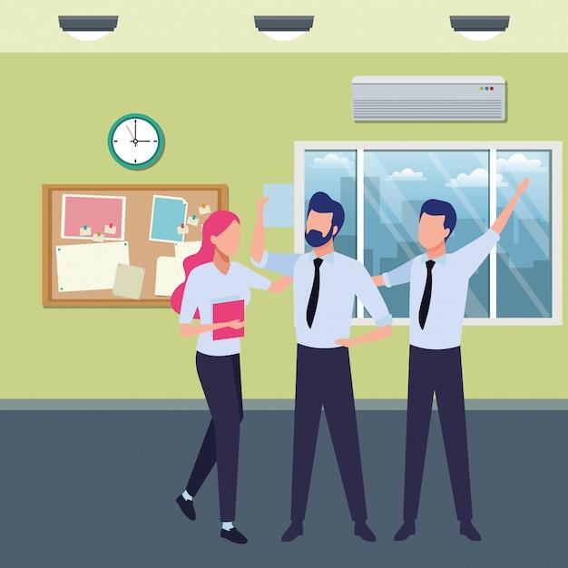Współpracownicy Biznesowi Z Artykułami Biurowymi Darmowych Wektorów