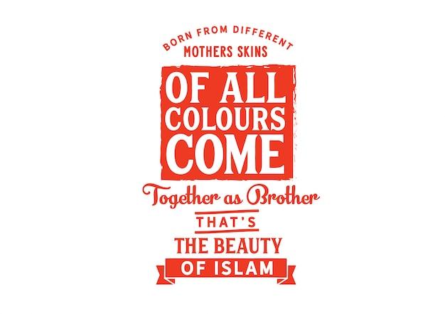 Wszystkie kolory spotykają się jako bracia Premium Wektorów