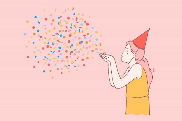 Wszystkiego najlepszego z okazji urodzin dzieci. Premium Wektorów