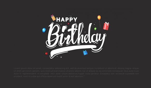 Wszystkiego najlepszego z okazji urodzin tła na imprezę Premium Wektorów