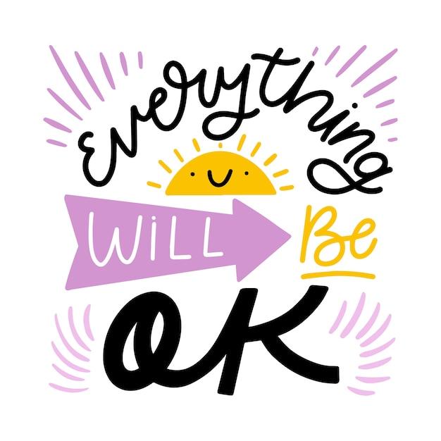 Wszystko Będzie Dobrze I Słońce Darmowych Wektorów