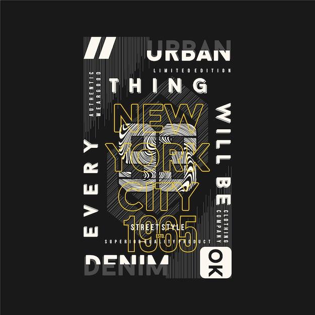 Wszystko Będzie Dobrze Napis Graficzny Na Gotowej Koszulce Z Nadrukiem Premium Wektorów
