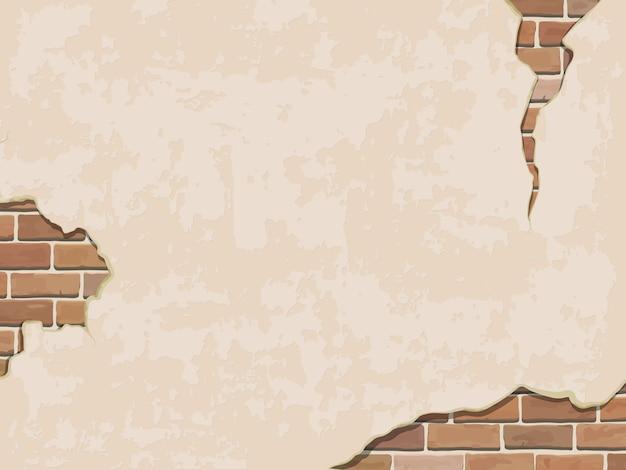 Wyblakły Tło ściany Z Cegły. Premium Wektorów