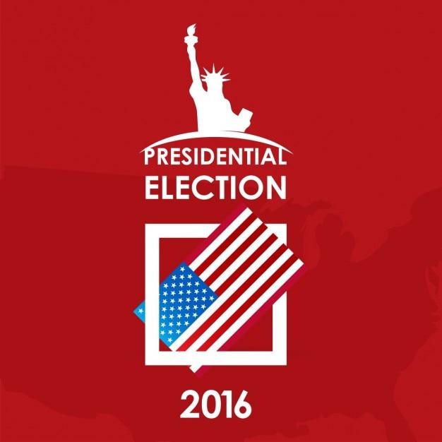 Wybory prezydenckie w usa koncepcja dzień papier płaski głosowania Darmowych Wektorów