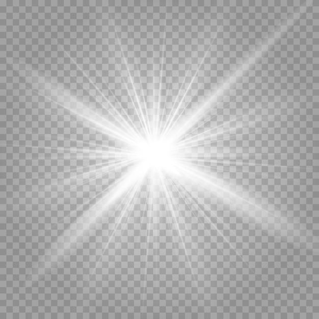 Wybuch błyszczącej gwiazdy i lśniącego blasku Premium Wektorów