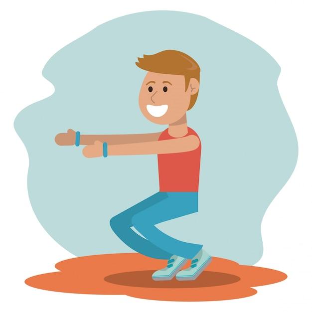Wychowanie Fizyczne - Szkoła ćwiczeń Chłopca Premium Wektorów