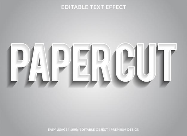 Wyciąć Z Papieru Szablon Efekt Tekstu Typu Srebrnego Premium Wektorów
