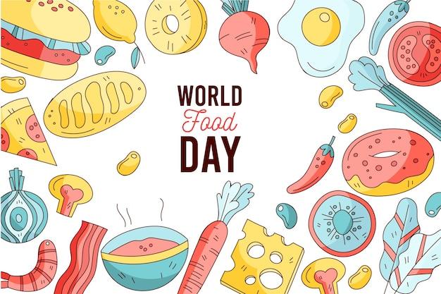 Wyciągnąć Rękę Obchody światowego Dnia żywności Darmowych Wektorów