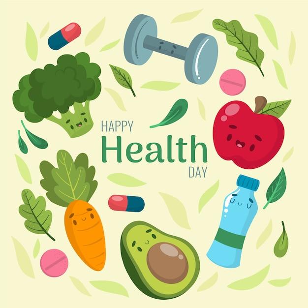 Wyciągnąć Rękę światowy Dzień Zdrowia Premium Wektorów