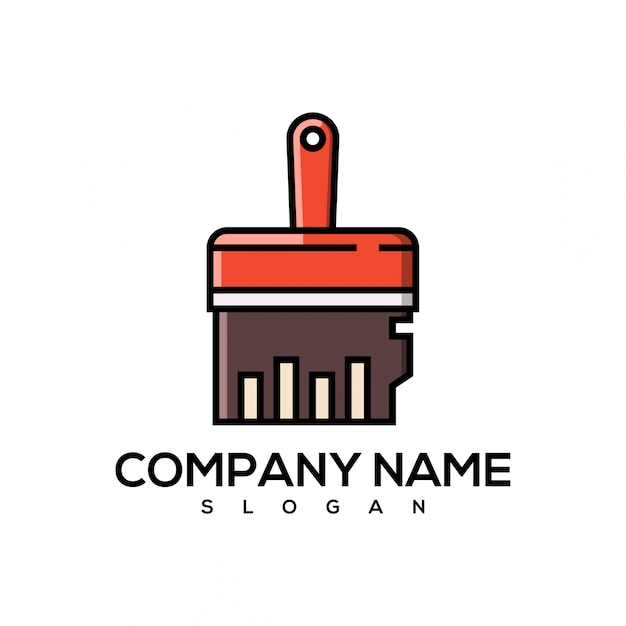 Wyczyść logo pamięci Premium Wektorów