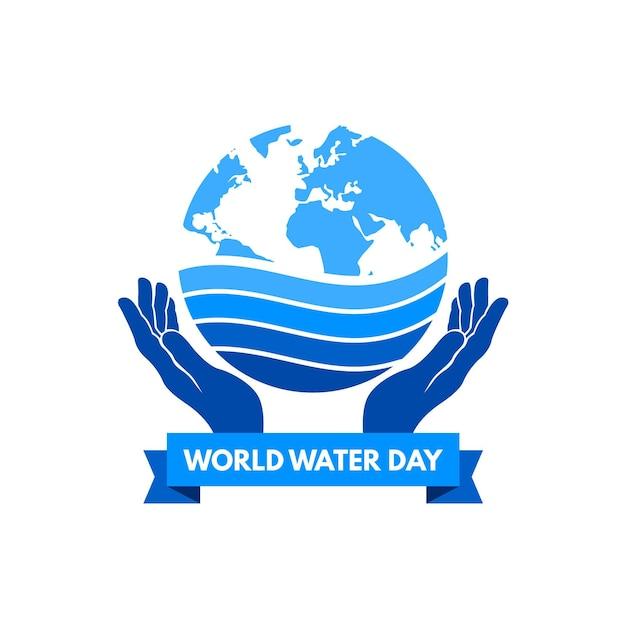 Wydarzenie światowego Dnia Wody Darmowych Wektorów