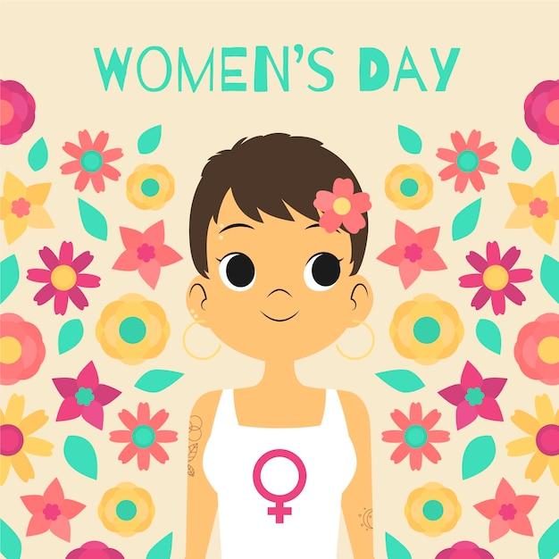 Wydarzenie Z Okazji Dnia Kobiet Z Motywem Kwiatowym Darmowych Wektorów