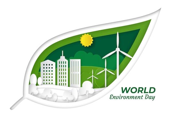 Wydarzenie Z Okazji światowego Dnia środowiska Darmowych Wektorów