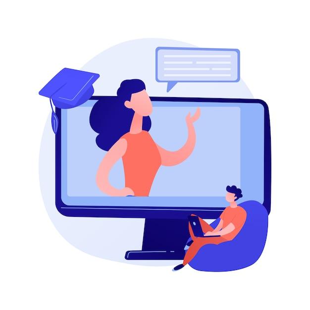 Wykład Online. Możliwość Uczenia Się Na Odległość, Samokształcenie, Kursy Internetowe. Technologie E-learningowe Darmowych Wektorów