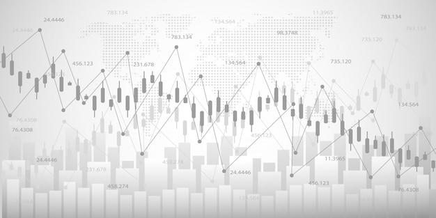 Wykres ekonomiczny z diagramami na giełdzie Premium Wektorów