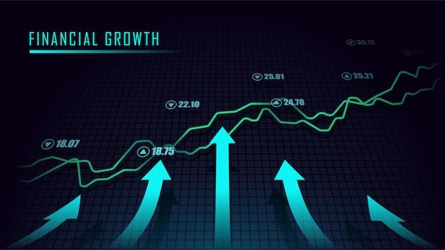 Wykres Giełdowy Lub Forex W Koncepcji Graficznej Premium Wektorów