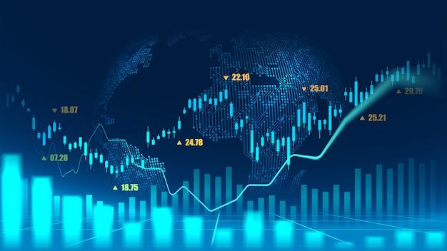 Wykres Giełdowy Lub Forex Premium Wektorów