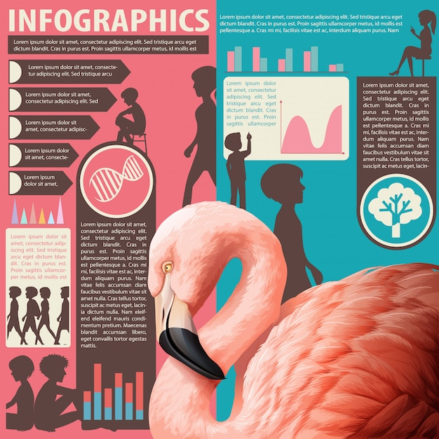 Wykres Przedstawiający Ludzi I Zwierzęta Darmowych Wektorów