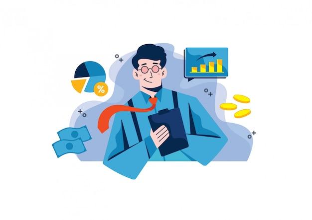 Wykresy i ilustracja statystyki analizy Premium Wektorów