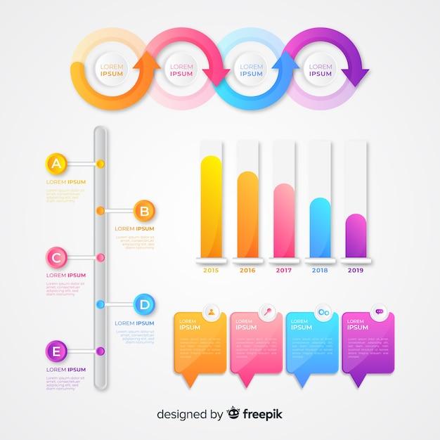 Wykresy statystyk marketingu infograficznego Darmowych Wektorów