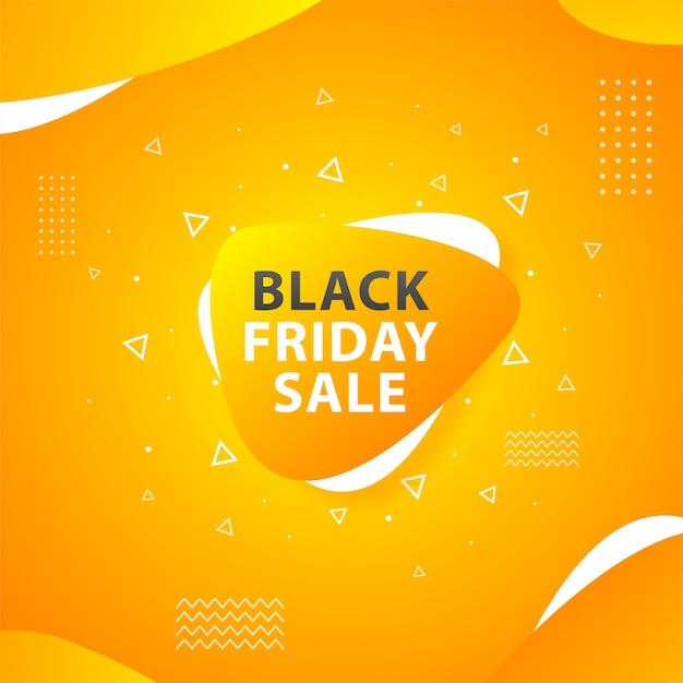 Wyprzedaż Black Friday W Wesołym Pomarańczowym Kolorze Premium Wektorów