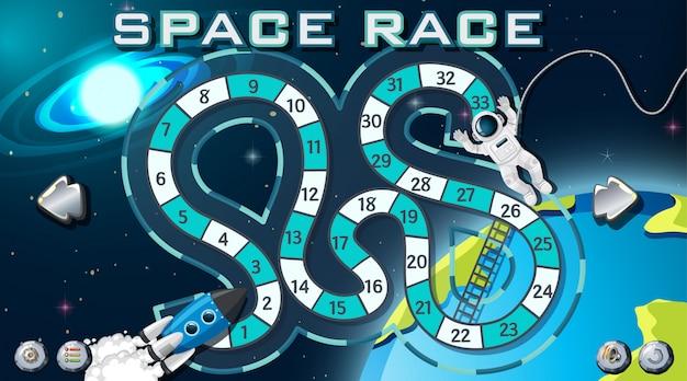Wyścig kosmiczny tło gry Darmowych Wektorów