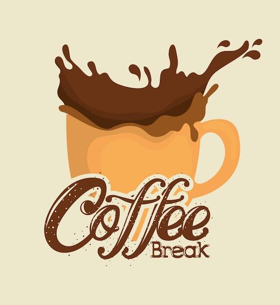 Wyśmienita Etykieta Na Kawę Darmowych Wektorów