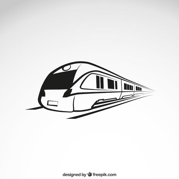 Wysoka prędkość pociągu Darmowych Wektorów