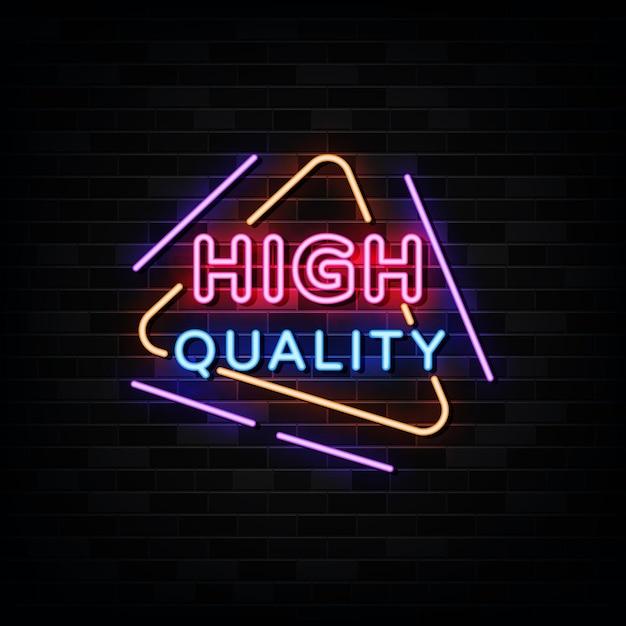 Wysokiej Jakości Neony. Szablon W Stylu Neonowym Premium Wektorów