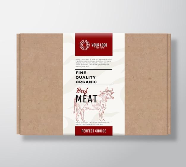 Wysokiej Jakości Pudełko Kartonowe Z Organicznej Wołowiny. Darmowych Wektorów
