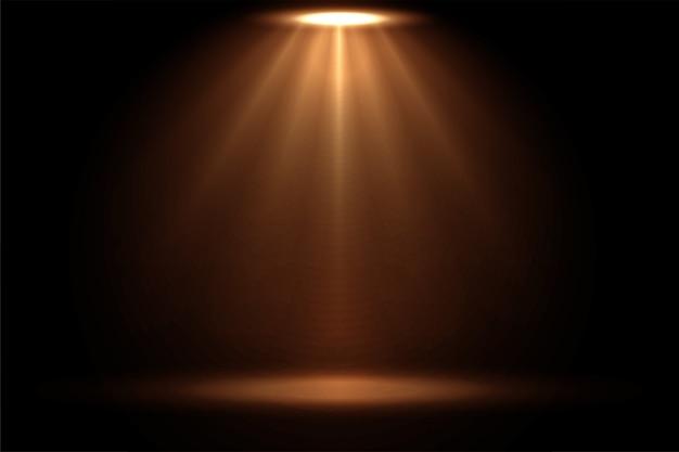 Wyświetlanie Efektu Reflektora Punktowego W Ciepłych Kolorach Darmowych Wektorów
