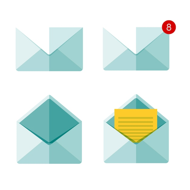 Wysyłanie wiadomości e-mail i globalna komunikacja Premium Wektorów