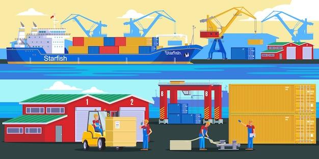 Wysyłka Logistycznych Banerów Poziomych Darmowych Wektorów