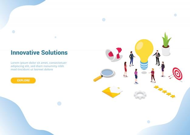 Wyszukaj Lub Znajdź Pomysły Lub Koncepcję Rozwiązania Do Lądowania Szablonu Strony Internetowej Lub Strony Głównej Premium Wektorów