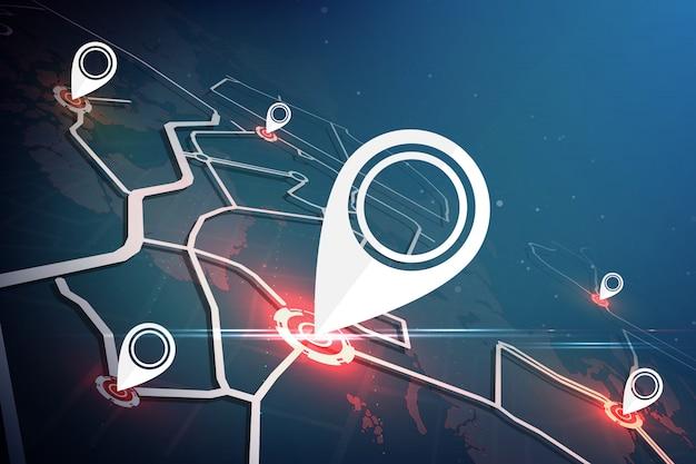 Wyszukiwanie lokalizacji na całym świecie. koncepcja mapy lokalizacji Premium Wektorów