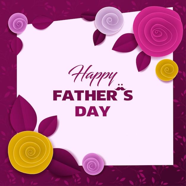 Wytnij Papierową Kartkę Z Okazji Dnia Ojca Premium Wektorów