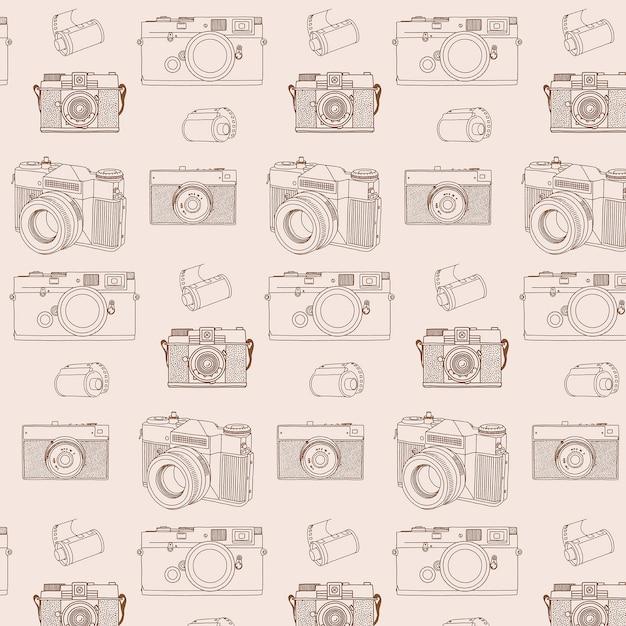 Wzór aparatów analogowych Premium Wektorów