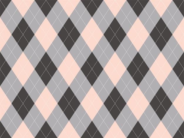 Wzór Argyle Bez Szwu. Tekstura Tkanina Tło. Klasyczny Ornament Argill Premium Wektorów