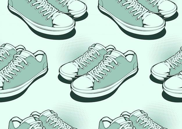 Wzór Butów Premium Wektorów