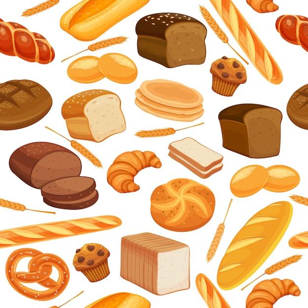 Wzór Chleba Premium Wektorów