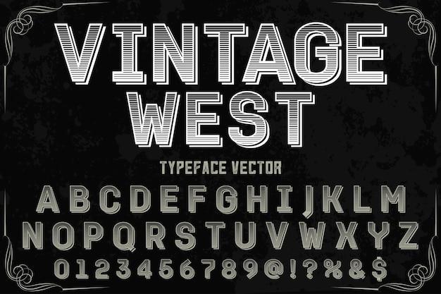 Wzór Etykiety Rocznika Zachodniego Kroju Premium Wektorów