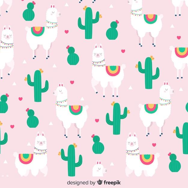 Wzór kaktusa Darmowych Wektorów