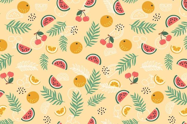 Wzór Kolorowe Owoce Darmowych Wektorów