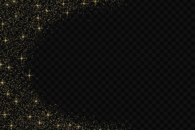 Wzór konfetti złoty brokat. Premium Wektorów