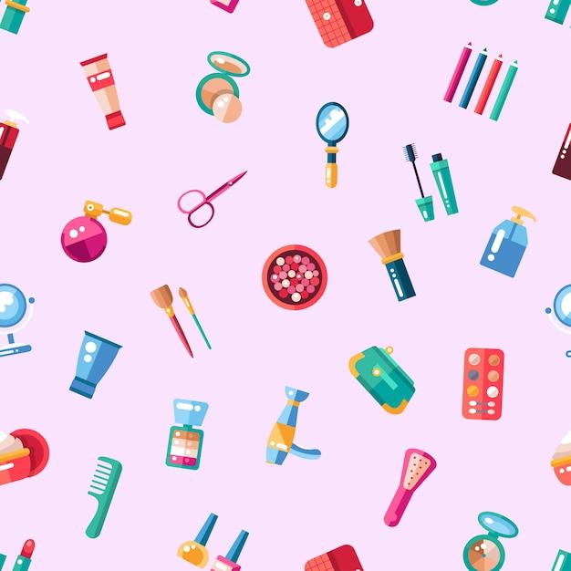 Wzór Kosmetyków, Tworzą Ikony I Elementy Premium Wektorów