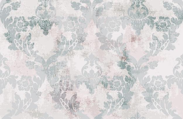 Wzór ornament sztuka bez szwu. barokowy rokokowy tekstura luksusowy design. królewskie dekory tekstylne. Premium Wektorów